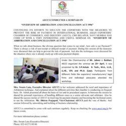 Seminar - Arbirtration & Concilliation Act 1966